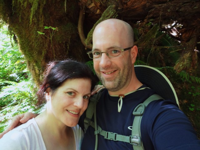 Me and Chris in the Hoh Rain Forest, part of Olympic National Park.