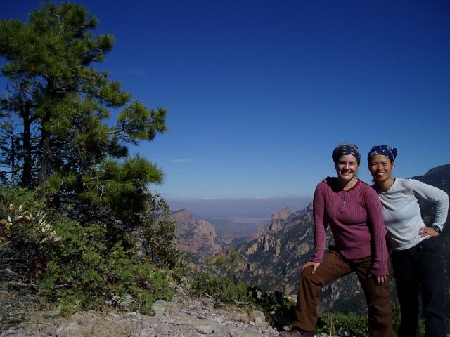Cecily and Marci in the Chiricahua Wilderness