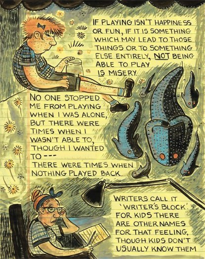 """A page from Lynda Barry's """"What It Is""""."""