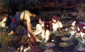 Hylas and the Nymphs 1896 by John William Waterhouse