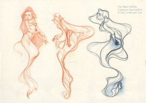 Water Spirit Sketches by Ewa Ludwiczak