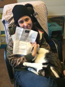 Samantha is adopting Nico (not Big Boy)!